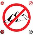 pyramids symbol stop vector image