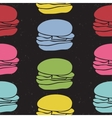 Seamless pattern of fast food burgers vector image
