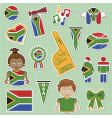south Africa supporter stickers vector image