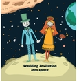 Wedding invitation into space vector image