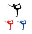 Yoga pilate vector image