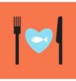 fish restaurant menu vector image
