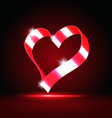 Glowing heart vector