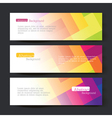 Set of three colorful banners vector image