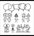 chat and virtual love people icons set vector image vector image