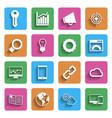 Modern Internet Marketing Icons vector image