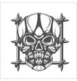 Demon Skull on white vector image