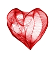 Grid heart with cube for valentine greeting card vector image