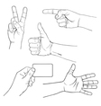 hands signs vector image
