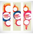 Abstract bubble banner vector image
