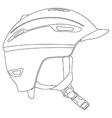 Snowboarding helmet vector image