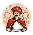 restaurant cafe logo menu dish food or vector image