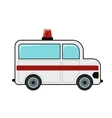 Ambulance cartoon icon on white background vector image