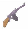 Automatic machine AK 47 icon cartoon style vector image