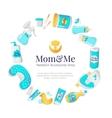 baby accessories frame Newborn goods vector image
