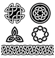 Celtic Irish patterns and knots - vector image