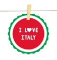 I lOVE ITALY4 vector image