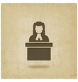 judge in wig old background vector image