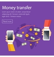 Mobile money transfer concept vector image
