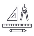 rulers dividers pen line icon sign vector image