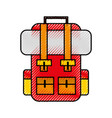 scribble travel backpack cartoon vector image