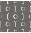 Set of Metallic Wrench Grey Seamless Pattern vector image