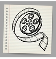 Doodle reel of film vector image