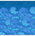 ornate doodle sea background vector image vector image