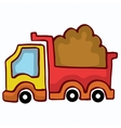Cartoon Dump Truck design for kids vector image