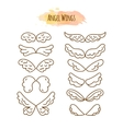 Angel Wings in Line Style vector image