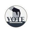 Hand with voting ballot Vote vector image