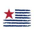 American color flag grunge celebration vector image