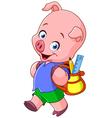 school pig vector image vector image