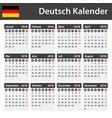 german calendar for 2018 scheduler agenda or vector image