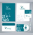 document template design with silhouette of vector image vector image
