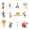 Dance Icon Flat vector image