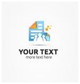 Share Documents Logo Design vector image