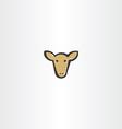 brown cow head icon vector image