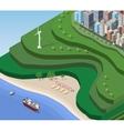 Beach Sea vector image