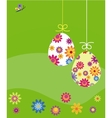 easter card eggs with flower template vector image vector image