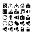 Multimedia Icons 2 vector image