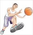 ball player vector image