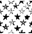 hand drawn paint seamless pattern black and white vector image