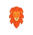 Lions Head Realistic Simplified Drawing vector image