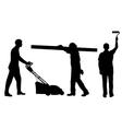 People working vector image