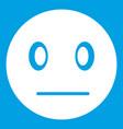 suspicious emoticon white vector image
