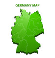 highly detailed three dimensional map of germany vector image