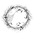 Halloween wreath white background vector image