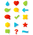 sticker icons vector image vector image