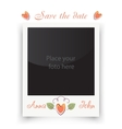 Vintage wedding frame Template for photo of the vector image
